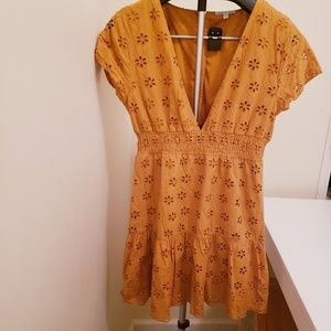 Charlotte Russe  Scallop Eyelet dress size L